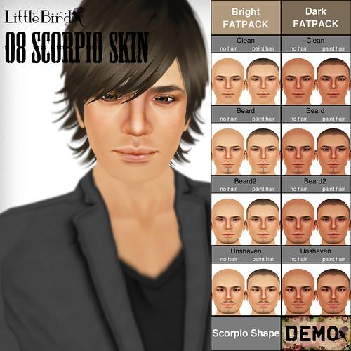 Scorpio skin sample pop