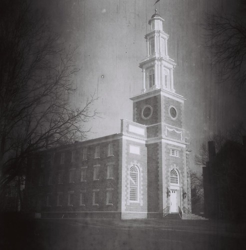 Hamilton College Chapel, Clinton, N.Y. - Shot on 60-year-old Kodak 120 B&W stock
