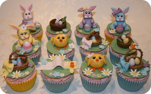 Easter Egg Hunt Birthday Cupcakes by The Clever Little Cupcake Company (Amanda)