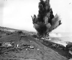 Beach Clearance, Iwo Jima, 1945 (Marine Corps Archives & Special Collections) Tags: demolition worldwarii 1945 fifthmarinedivision usmarinecorps warinthepacific amphibiousassault mountsuribachi iwojimaoperations fourthmarinedivison officialusmcphoto