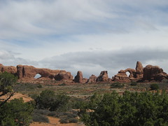 North Window and Turret Arches (Patricia Henschen) Tags: utah moab archesnationalpark turretarch northwindowarch