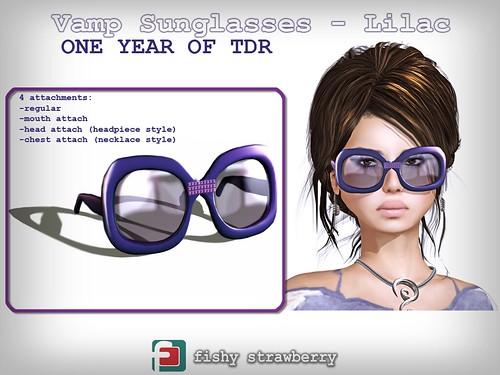 Vamp Sunglasses Lilac - TDR Birthday