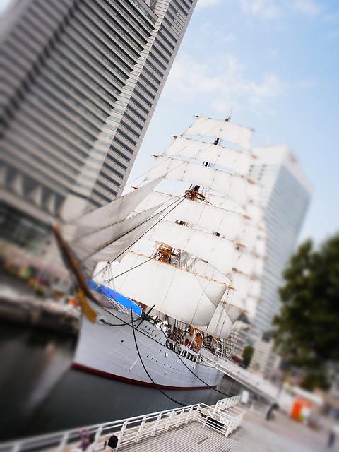 "miniaturized sailing boat ""Nippon-maru"""