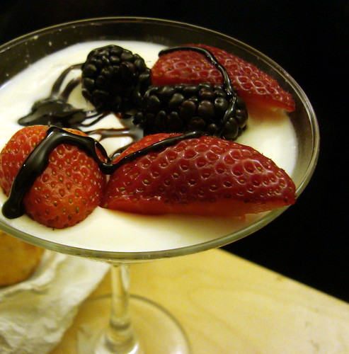 Coconut Panna Cotta w Fig Balsamic Reduction
