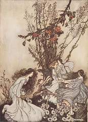 "Arthur Rackham - illustration from ""Peter Pan in Kensington Gardens"" (sofi01) Tags: arthurrackham"