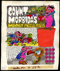 Dynamite Magazine issue #?? - Count Morbida's Monthly Puzzle Pages - page one of two - original artwork by Arthur Friedman - 1970's