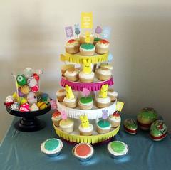PEEPS cupcake tower display