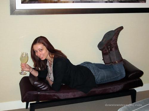 relaxing at the trump soho