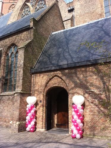 Ballonpilaar Breed Hart Grote Kerk Den Haag