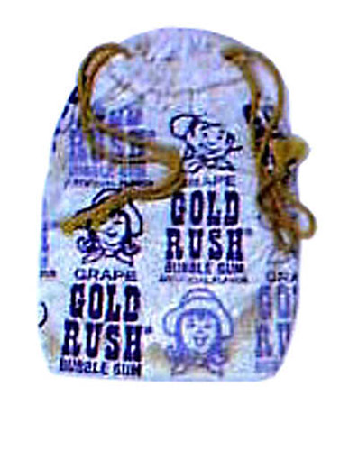 Gold Rush bubble gum - grape flavour