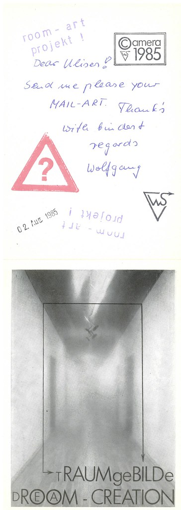 "SCHNEIDER, Wolfgang. Magdeburg, DE, 1985.  ""The Dream Creation"" : 9 postcards, offset."