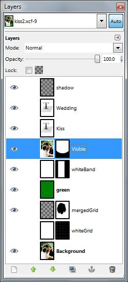 GIMP's Layers dialog.