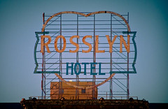 Rosslyn Hotel - scaffold sign (TooMuchFire) Tags: signs la losangeles neon downtownla neonsigns oldsigns downtownlosangeles vintagesigns vintageneonsigns vintagesignage rosslynhotel hotelrosslyn rooftopsigns scaffoldsigns toomuchfire oldsignslosangeles 451smainstlosangelesca