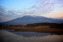 Majestic Mt.Iwate (jasohill) Tags: city sky mountain nature japan landscape photography japanese landscapes iwate backgrounds    matsuo mtiwate hachimantai 2011  jasohill