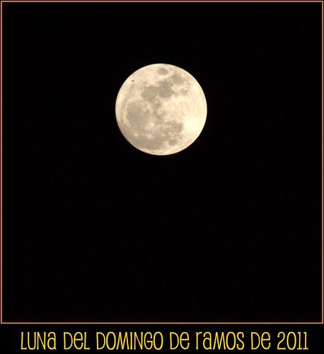 Luna del Domingo de Ramos del 2011