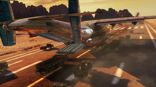 Uncharted 3: airstrip runway