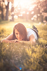 Isabel (STEFFEN EGLY) Tags: sunset summer sun grass canon cherry relax 50mm spring blossom lensflare f18 chill 500d