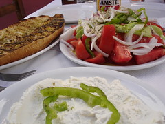 Lunch in Kalyvia (greek58) Tags: greeksalad kalivia kalyvia tyrokafteri mourouzis