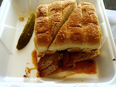 Salt Lick Sliced Brisket Sandwich