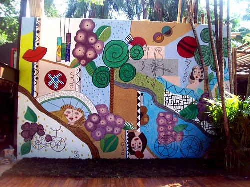 Mosaico Artísticos de pastilhas de vidro