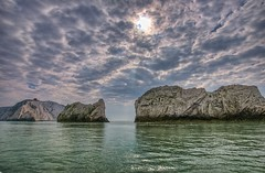 The Needles (Digital Drifter) Tags: water clouds isleofwight needles tonemapped