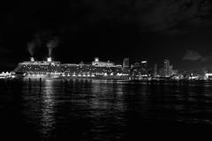 Celebrity Crusise Ship and Miami Skyline