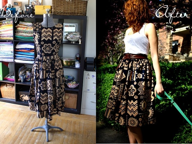 2 midi skirt before and after
