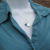 Bluebell and Pearl Necklace