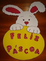 """coelho para a porta de casa (a_legria """"Aline"""" ; )) Tags: eva páscoa coelho pascoa"""