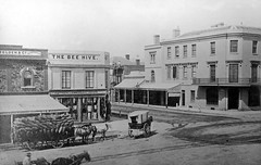 Beehive Corner, Cnr King William & Rundle Streets, 1866 (State Library of South Australia) Tags: heritage architecture buildings smartphone adelaide southaustralia holden iphone rundlemall rundlestreet generalmotors saddlers acre79