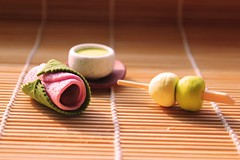 Delicious Dango (crayonmonkey) Tags: cake japan japanese miniature spring tea eraser small dango matcha wagashi