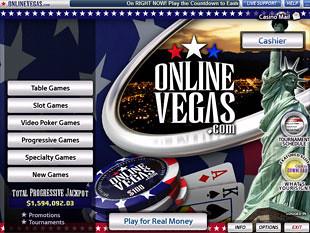 Online Vegas Casino Lobby
