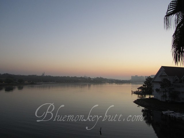 Dawn over Bay Lake from the Grand Floridian