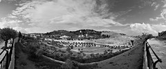 Mount of Olives (Jerusalem) (Panorama) (manuela.martin) Tags: blackandwhite bw panorama israel jerusalem alquds mountofolives yerushalyim yrualaym