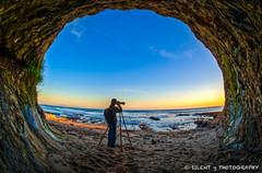 Cavezilla (Silent G Photography) Tags: california ca sunset cave pismo hdr highdynamicrange sanluisobispo shellbeach nikkor105mmf28fisheye highdynamicrangephotography nikond7000 markgvazdinskas silentgphotography