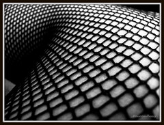 Fishnet Stockings (montreal_bunny) Tags: blackandwhite macro stockings fashion canon tights fishnets odc g12 somethingfishy ourdailychallenge canonpowershotg12