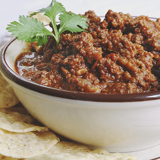 My Favorite Chili (with Chocolate)