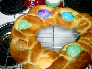 Baked Easter Egg Bread