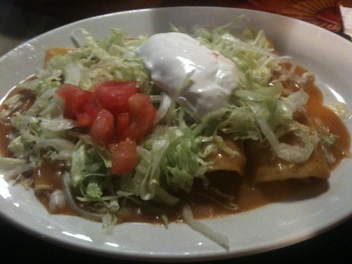 Enchiladas Supreme at El Bronco, Warner Robins GA