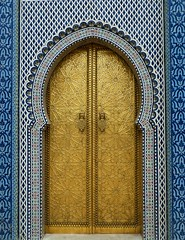 Royal Palace (Channed) Tags: door travel detail palace explore morocco fez maroc marokko royalpalace deur paleis fs explored darelmakhzen chantalnederstigt