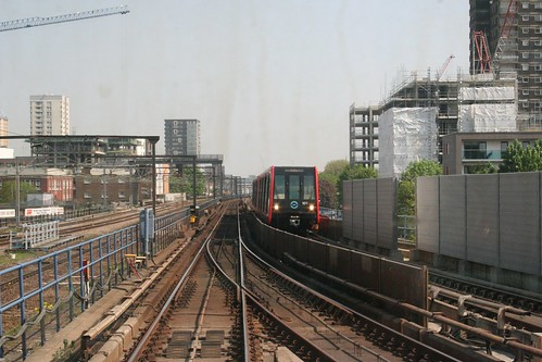 Drivers eye view from a DLR train