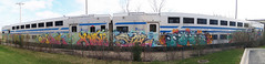 MTA (Eclectic Dyslexic) Tags: train de island graffiti long authority transportation mta express slug d30 metropolitan gem ld mul kink cmw amuse aims aom stal kwt sivel 2nr snacki