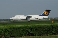 BAe 146-RJ85 (Den Batter) Tags: nikon spl bae schiphol lufthansa cityline 146 eham polderbaan d5000 davrm 146rj85