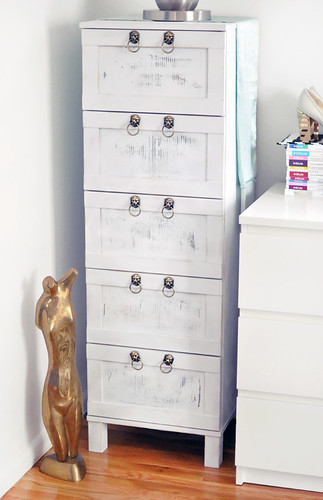 Ikea Dresser Hack+Ikea chest of  drawers makeover / Maegan Tintari