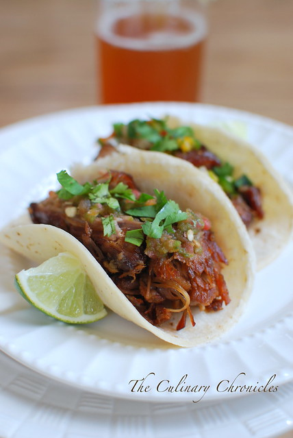 Fat Tire® Braised Carnitas Tacos & Chavelas