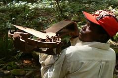 Ofelio the hunter with Gin Trap - Mt Mabu, Mozambique