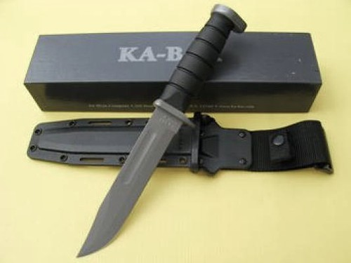"KA-BAR USMC Next Generation 7"" Plain Edge Blade with Kydex Sheath"