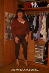 October 2007 (Steph1505) Tags: highheels tgirl tranny crossdresser tg leggings shemale