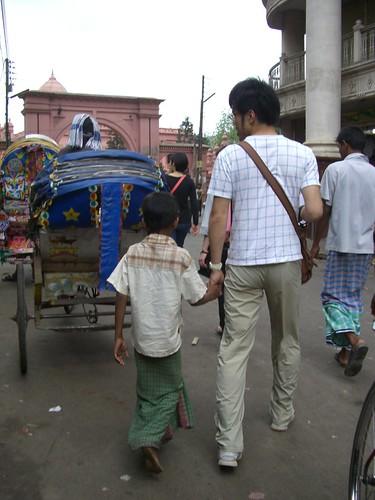バングラデシュ観光地のピンクパレスが見えてきた。