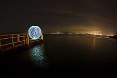 Teleport.. (e0nn) Tags: longexposure startrek lightpainting night orb transporter steev 139 157 lakeillawarra beammeupscotty explored aputure boonerahpoint steveselbyphotography boonerah